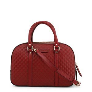 Gucci Red Micro GG Medium Satchel Crossbody Bag